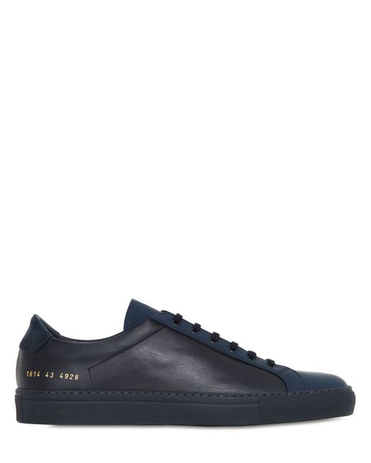 Common Projects | Blue Achilles Premium Leather Sneakers for Men | Lyst