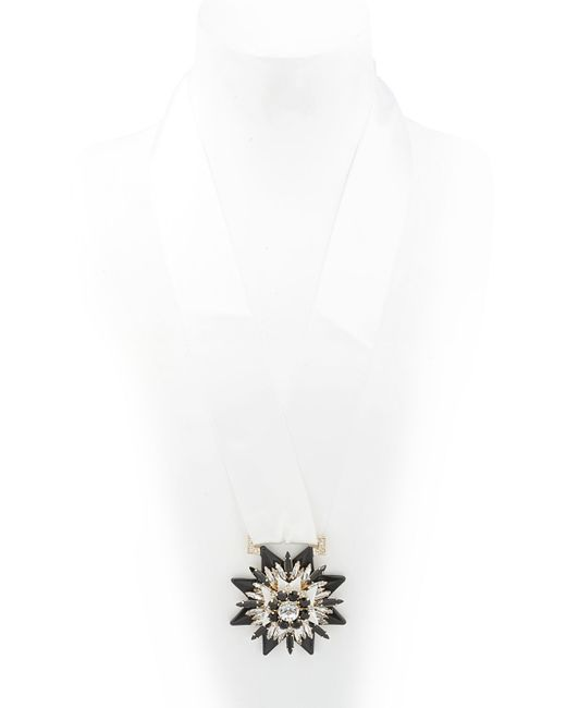 Shourouk | Black Medal Necklace | Lyst
