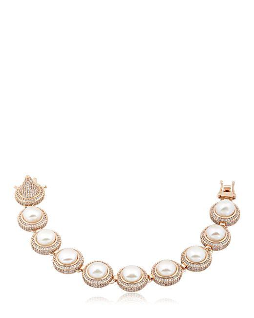 Eddie Borgo | Pink Pave Pearl Dome Bracelet | Lyst