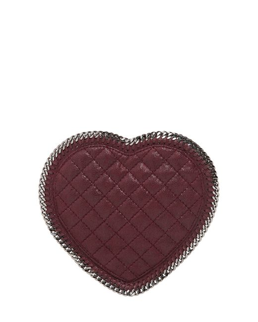 Stella McCartney | Purple Heart Quilted Shaggy Faux Deer Bag | Lyst