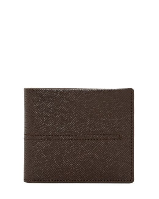 Tod's | Brown Stitched Grained Leather Classic Wallet for Men | Lyst