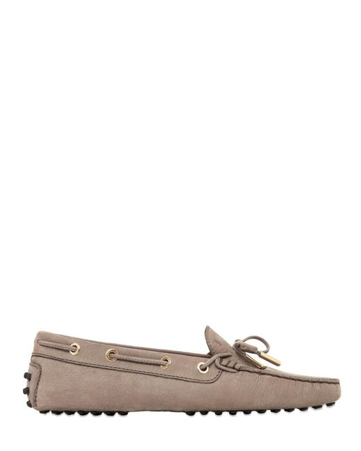 Tod's | Natural Heaven Laccetto Nubuck Driving Shoes | Lyst