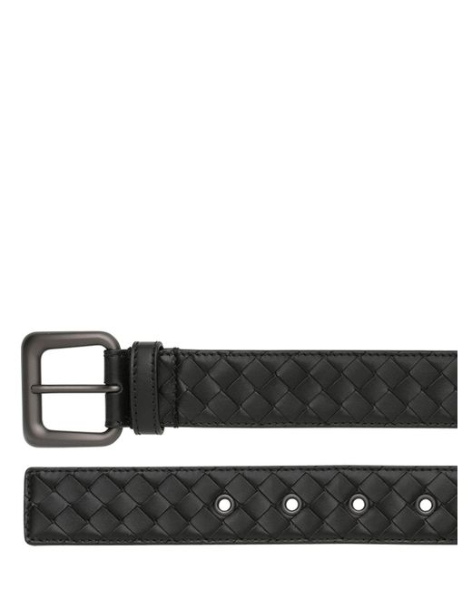 Bottega Veneta | Black 35mm Intrecciato Leather Belt | Lyst
