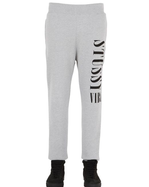 Stussy | Gray Vibe Cotton Jogging Pants | Lyst