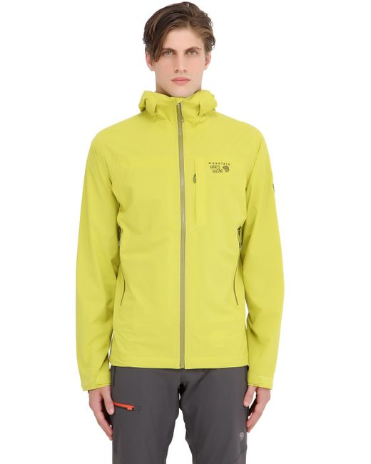 Mountain Hardwear | Yellow Stretch Ozonic Hardshell Jacket for Men | Lyst