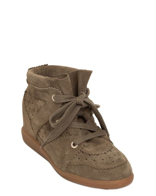 Étoile Isabel Marant | Brown Etoile 80mm Bobby Suede Wedge Sneakers | Lyst