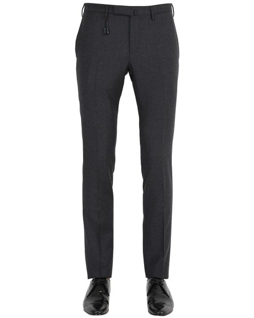 "Incotex | Gray 18cm Skinny ""82"" Stretch Wool Pants 