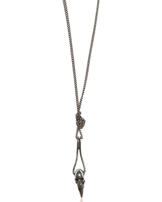 Emanuele Bicocchi | Metallic Silver Skull Pendant Necklace for Men | Lyst