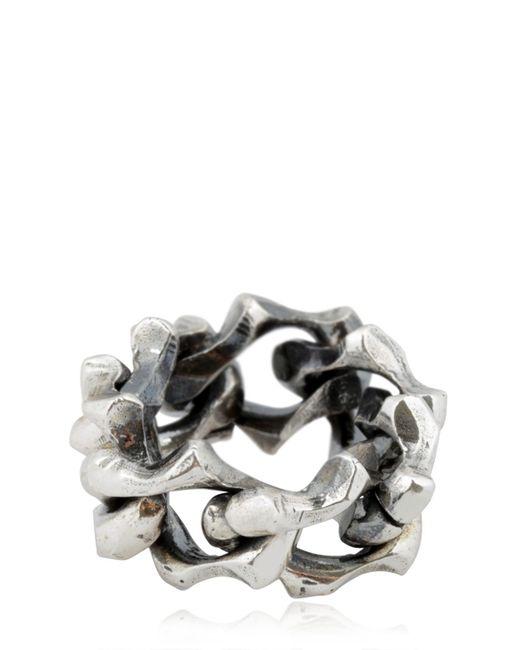 Emanuele Bicocchi | Metallic Silver Chain Ring | Lyst