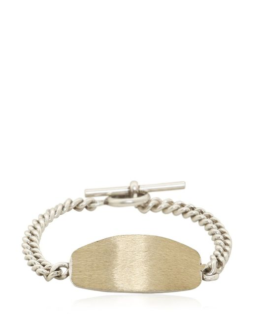 Maison Margiela | Metallic Silver Colored Brass Id Bracelet | Lyst