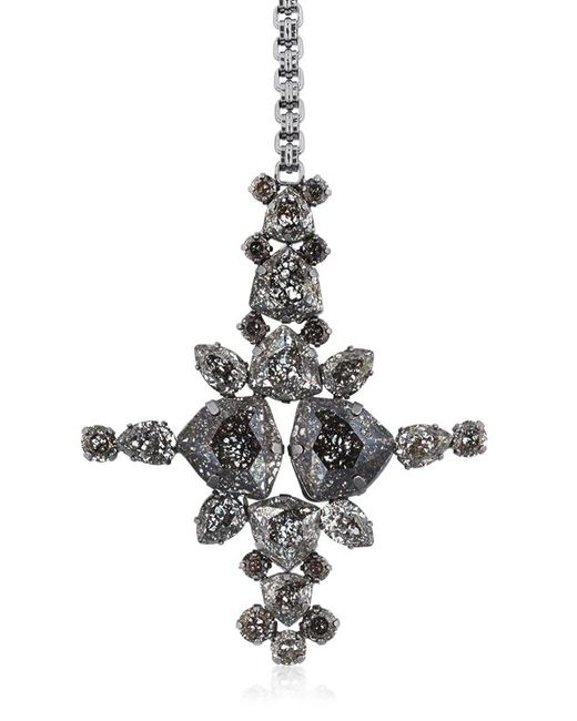 On Aura Tout Vu | Black Patina Cross Pendent Necklace | Lyst