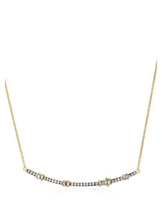 Jemma Wynne | Metallic Privè Diamonds Bar Necklace | Lyst
