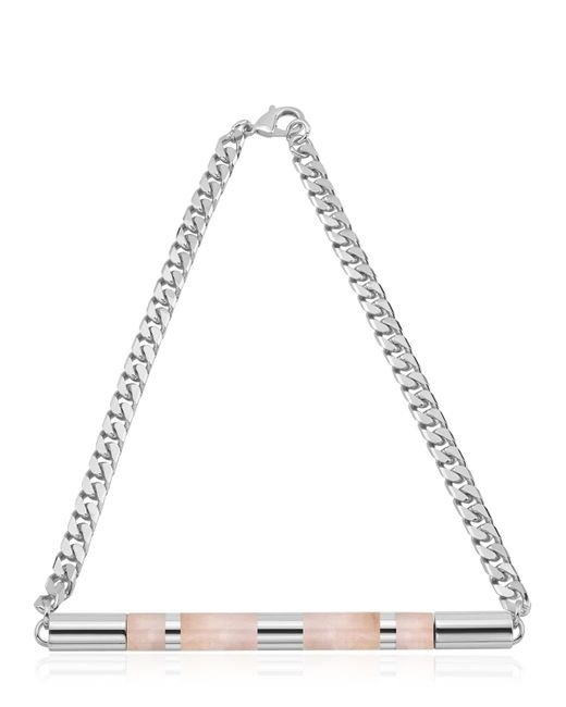 Vita Fede | Metallic Cylinder Stone Necklace | Lyst