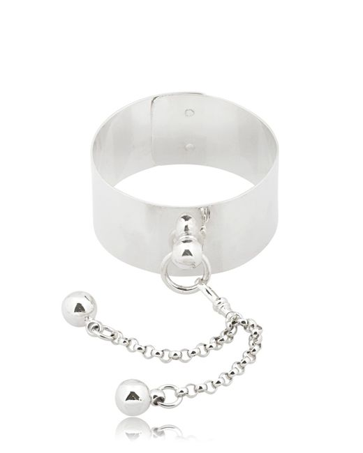 Betony Vernon | Metallic Sado Chic Wrist Cuff With Double Sphere | Lyst