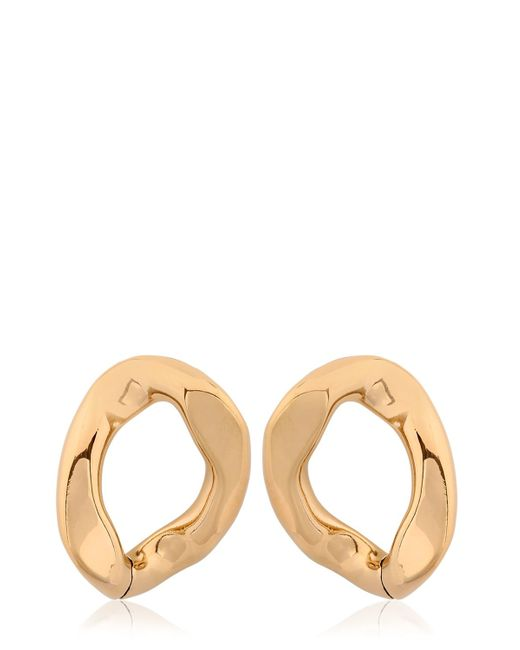 Pluma | Metallic Link Light Gold Earrings | Lyst