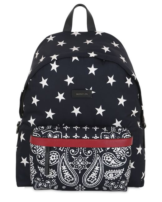 Moncler | Blue Romeo Star & Paisley Printed Backpack for Men | Lyst