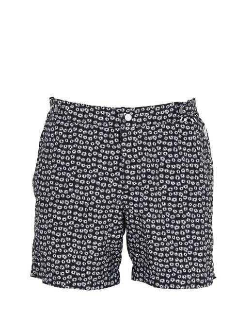 Danward   Black Mid Length Geometric Print Swim Shorts for Men   Lyst