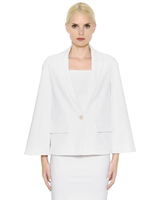 Givenchy | White Stretch Viscose Cady Cape Jacket | Lyst