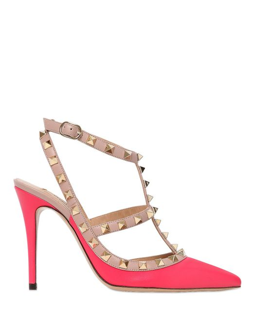 valentino rockstud leather kitten heel pumps save 24 lyst. Black Bedroom Furniture Sets. Home Design Ideas