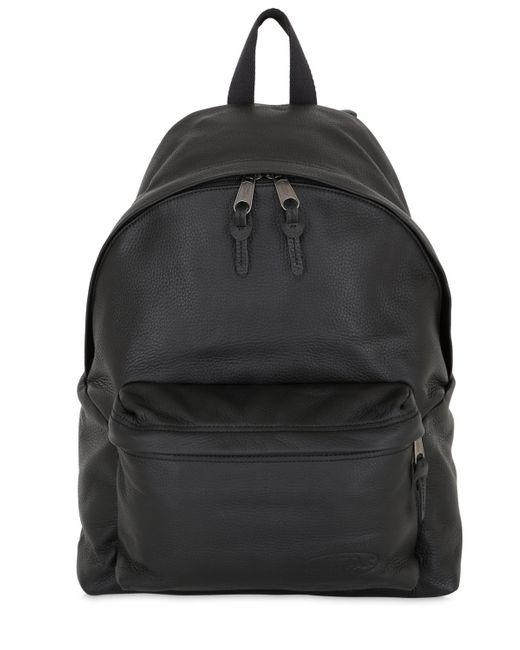 Leather Eastpak Backpack: Eastpak 24l Padded Pak'r Leather Backpack In Multicolor