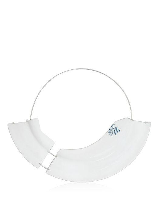 Maison Margiela | White Broken Plate Enameled Brass Necklace | Lyst