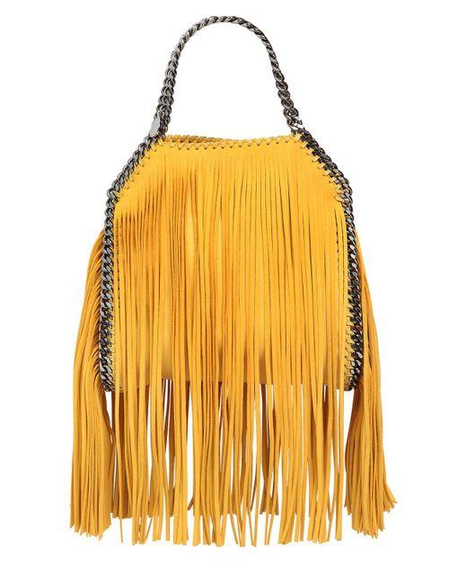 Stella McCartney   Yellow Mini 3chain Falabella Fringed Bag   Lyst