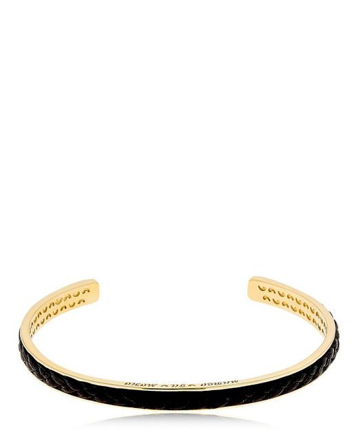 MARCO DAL MASO - Metallic Braided Leather & Silver Bracelet for Men - Lyst