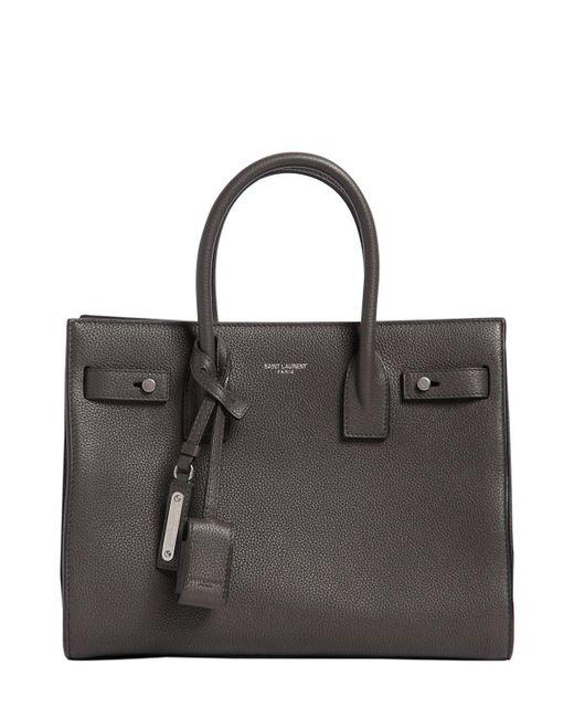 Saint Laurent | Gray Baby Sac De Jour Leather Top Handle Bag | Lyst