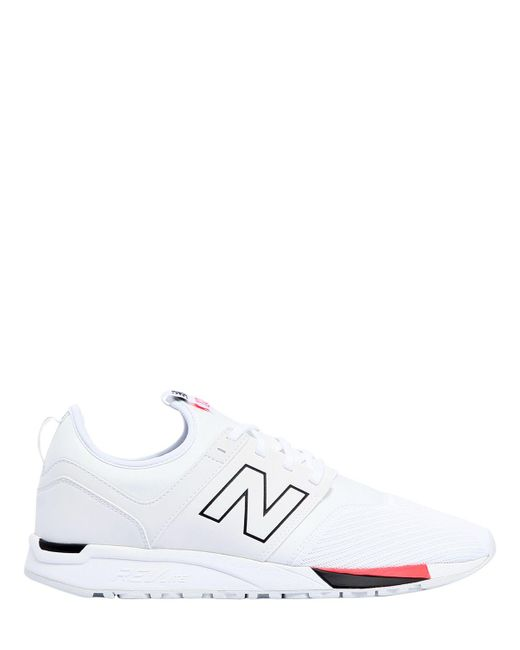New Balance | White 247 Microfibre Sneakers | Lyst