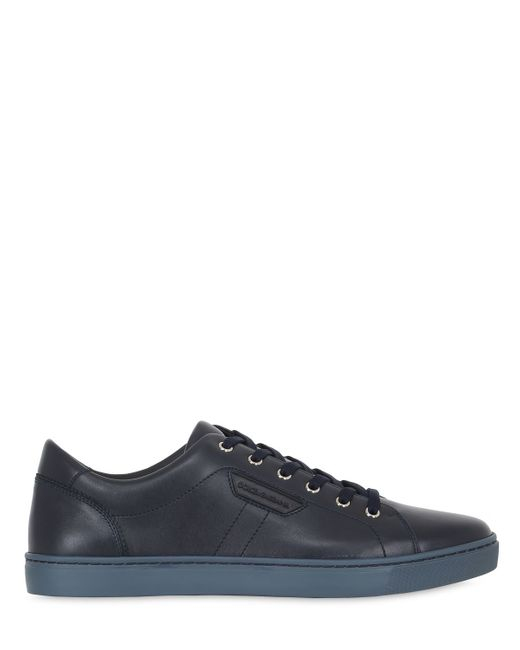 Dolce & Gabbana | Blue London Leather Tennis Sneakers for Men | Lyst