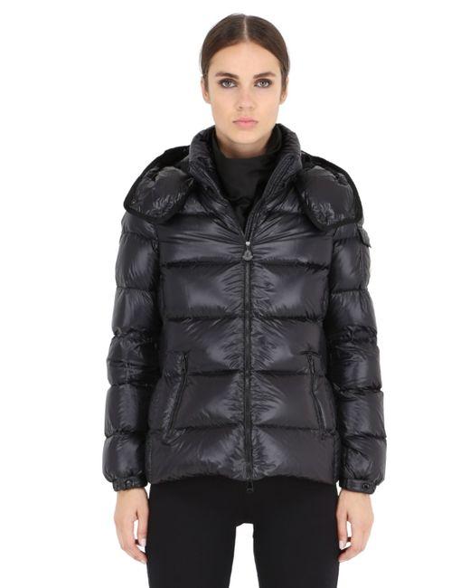 Moncler | Black Berre Nylon Leger Brillant Down Jacket | Lyst