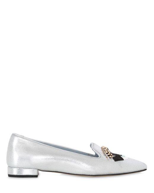 Chiara Ferragni | White 20mm Flirting Eyes Faux Leather Loafers | Lyst