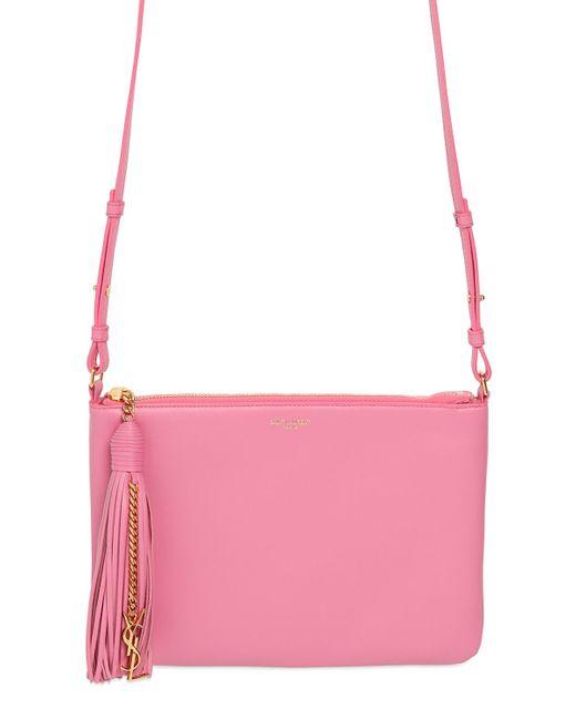 Saint Laurent | Pink Teen Monogram Leather Shoulder Bag | Lyst