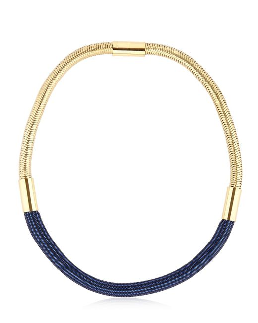 Isabel Marant | Blue Yeah Right Burnished Gold Tone Bead Necklace | Lyst