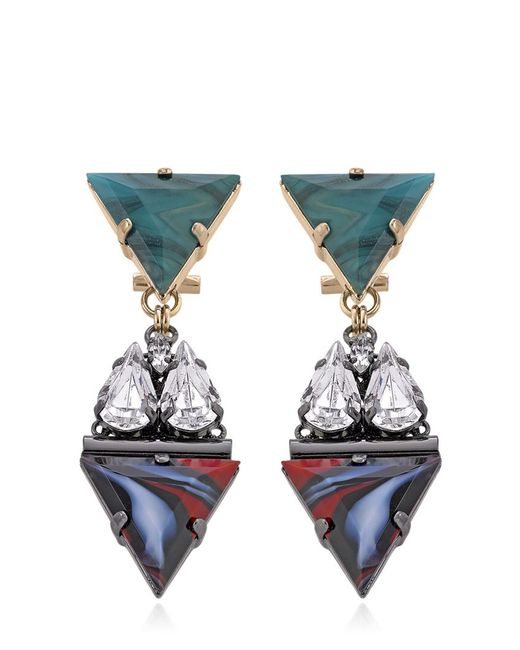 Anton Heunis | Green Crystal Cluster Drop Earrings | Lyst