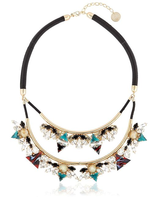 Anton Heunis | Metallic Art Deco Expression Necklace | Lyst