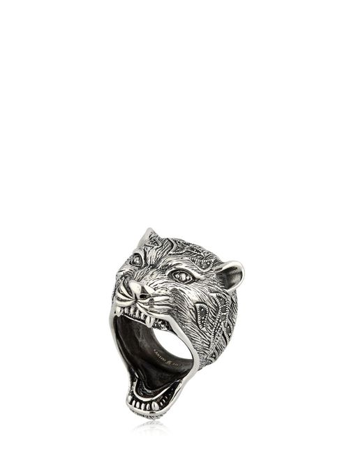 Cantini Mc Firenze   Gray Puma Sterling Silver Ring for Men   Lyst
