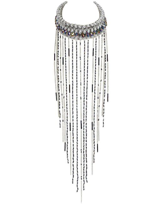 Only Child   Metallic Silver Meteor Storm Necklace   Lyst