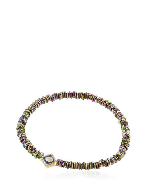 Luis Morais | Metallic Gold & Blue Enamel Scarab Bracelet | Lyst
