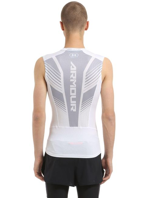 Under armour heatgear supervent sleeveless t shirt in for Under armour heatgear white shirt