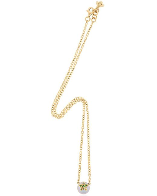 Carolina Bucci | Metallic Fresh Water Pearl & Diamond Necklace | Lyst
