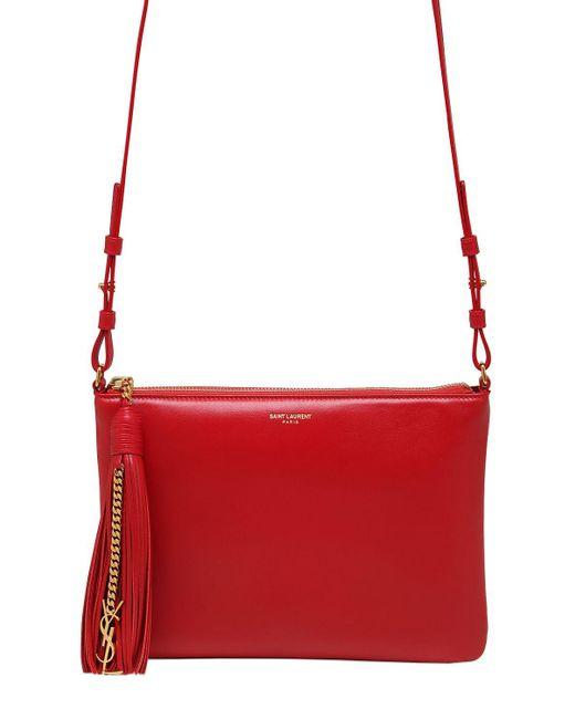 Saint Laurent | Red Teen Monogram Leather Shoulder Bag | Lyst