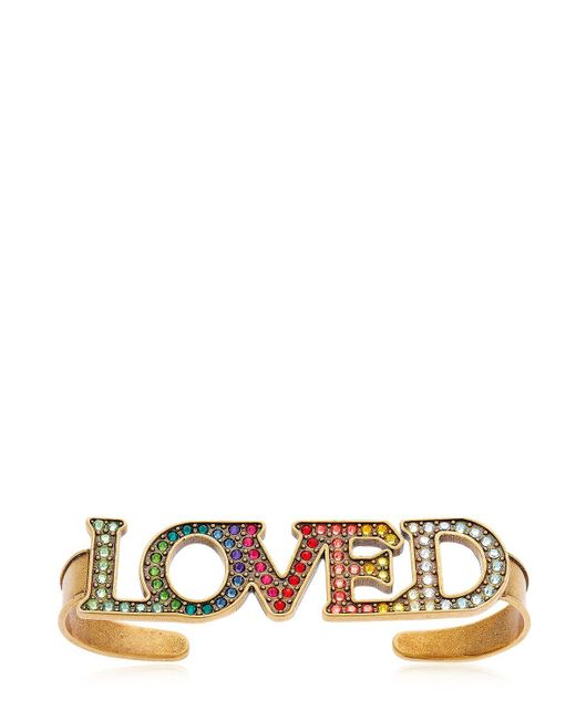 Gucci | Loved Multicolor Crystals Hand Bracelet | Lyst