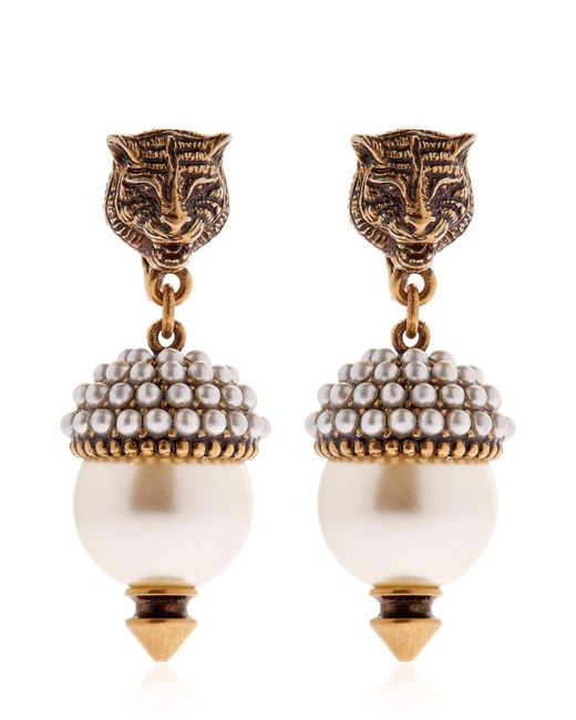 Gucci | Multicolor Imitation Pearl Clip-on Earrings | Lyst