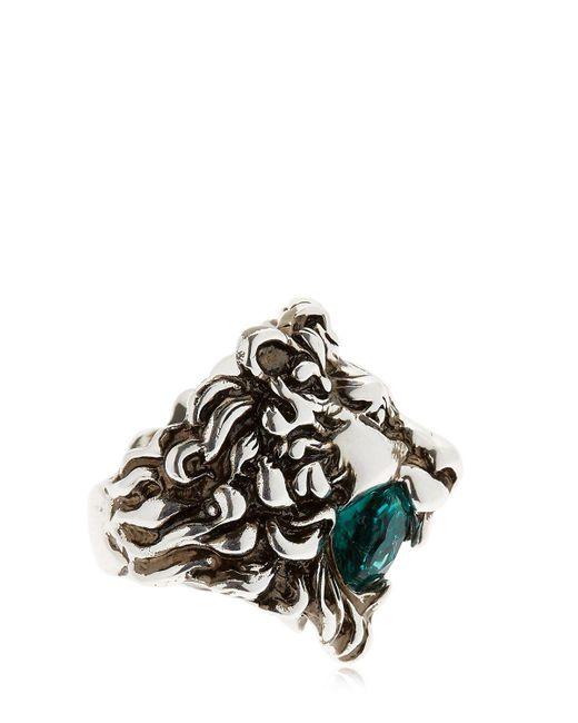 Gucci Lion Head Amp Swarovski Ring Lyst