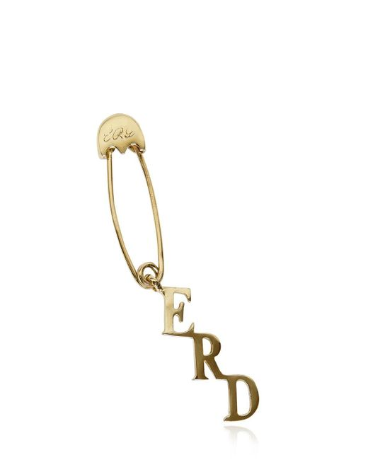 Enfants Riches Deprimes | Metallic Safety Pin Single Earring | Lyst