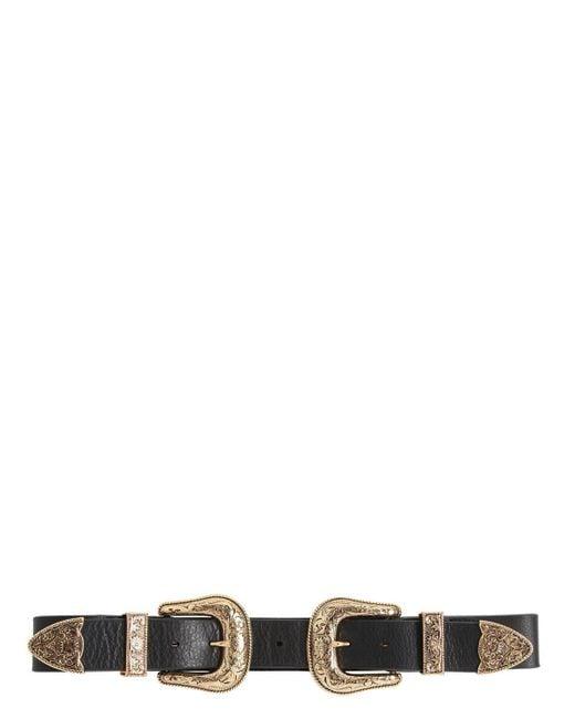 B-Low The Belt   Black 35mm Western High Waist Leather Belt   Lyst
