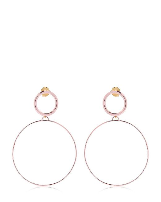 Maria Francesca Pepe | Pink Hoops I Did It Again Earrings | Lyst
