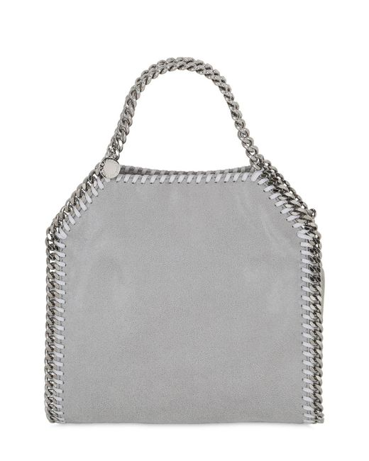 Stella McCartney | Gray Mini 3chain Shaggy Faux Deer Bag | Lyst