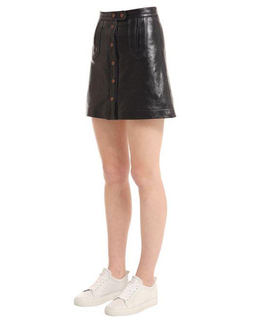 hilfiger patent leather mini skirt gigi hadid in